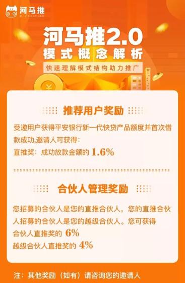 河马推贷款推广返佣平台,主要推广平安银行新一贷快贷产品